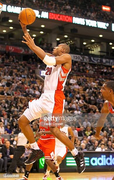 Oct 20 2010 Toronto Raptors shooting guard Leandro Barbosa goes to the hoop during the first half between the Toronto Raptors and the Chicago Bulls...