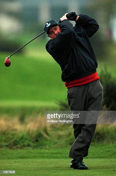 Actor Michael Douglas during the ProAm of the Alfred Dunhill Cup played on the Old Course at St Andrews Scotland Mandatory Credit Andrew...