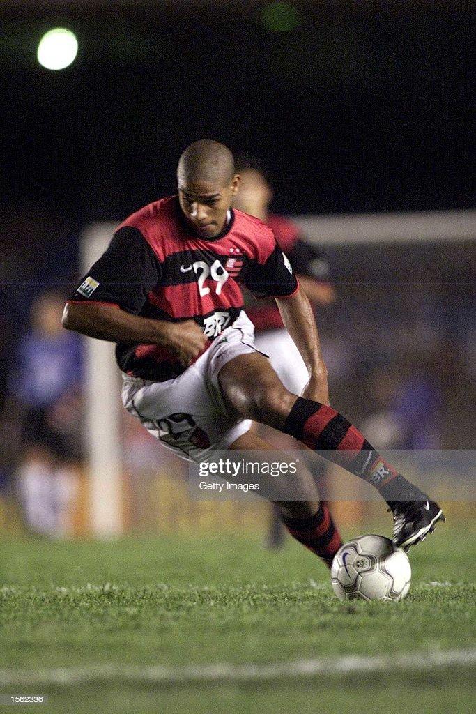 Adriano of Flamengo in action during the Flamengo v Vasco de Gama Joao Havelange Cup match played at the Maracana Stadium Rio de Janeiro Mandatory...
