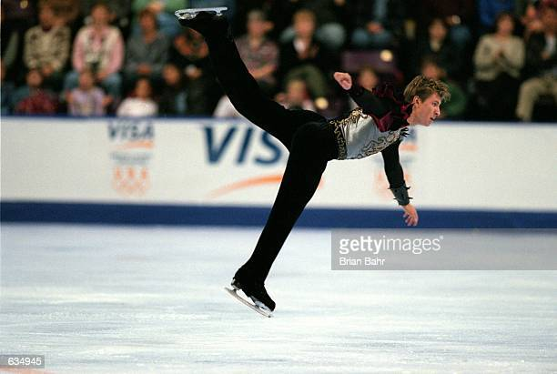 Alexei Yagudin of Russia performs during Skate America at the World Arena in Colorado Springs Colorado Yagudin came in 2nd in this...