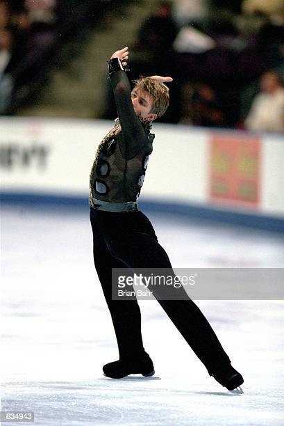 Alexei Yagudin of Russia performs his routine during the Skate America Competiton at the World Arena in Colorado Springs ColoradoMandatory Credit...