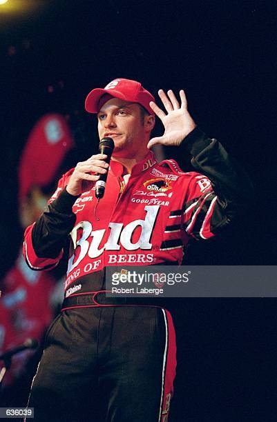 Allsport Photographer Jon Ferry as Little E''Earnhardt during dinner after the Marlboro 500 presented by NAPA part of the NASCAR Winston Cup Series...