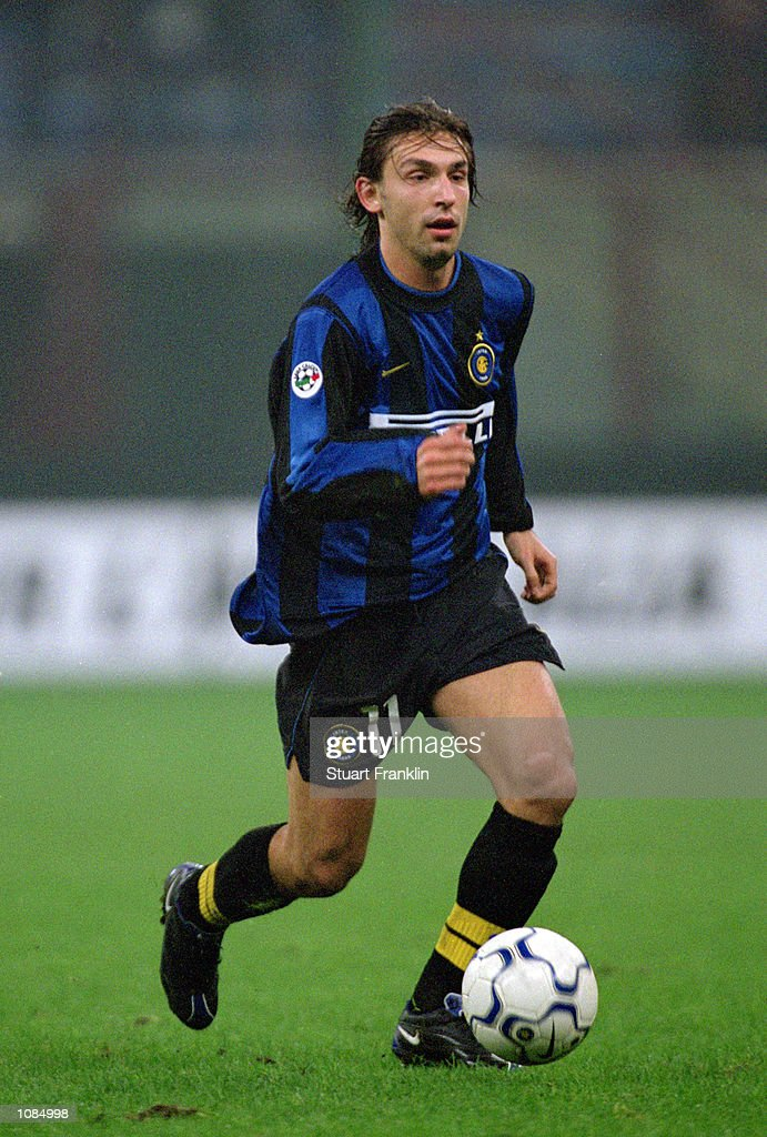 Andrea Pirlo of Inter Milan in action during the UEFA Cup second round first leg against Vitesse Arnhem at the San Siro in Milan Italy The match was...