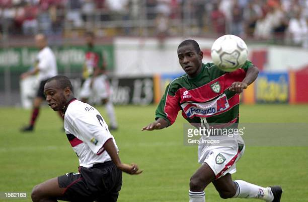 Edilson Rodrigues Santos of Portuguesa in action during the Brazilian I Division Joao Havelange Cup match between Portuguesa and Flamengo at Caninde...