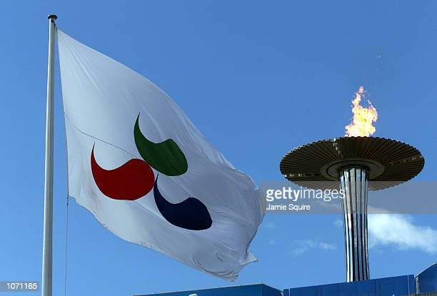 General view of Paralympic Flag and Cauldron at the Sydney 2000 Paralympic Games at Olympic Stadium Homebush Bay Sydney Australia X DIGITAL IMAGE...