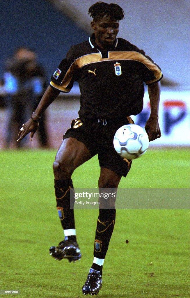 Idrissa Keita of Oviedo in action during the Primera Liga match between Espanyol and Oviedo played at the Estadio Olympico de Montjuic in Barcelona...