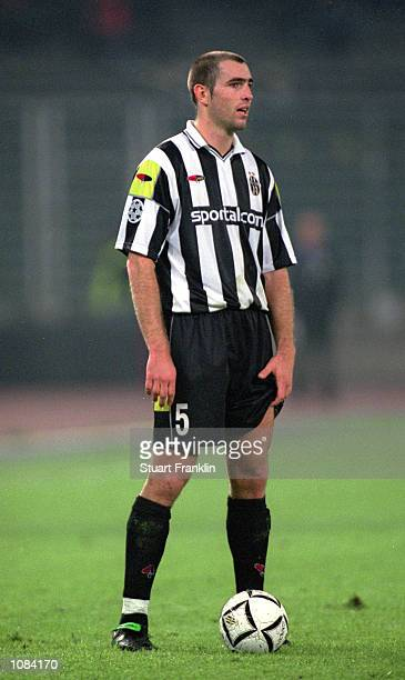 Igor Tudor of Juventus in action during the UEFA Champions League match against Hamburg played at the Stadio Delle Alpi in Turin Italy Hamburg won...