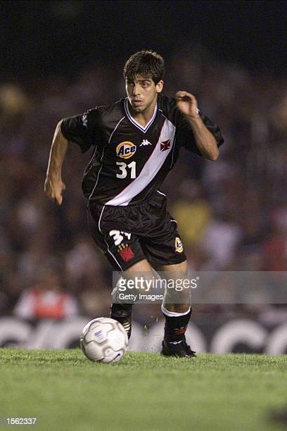 Juninho Pernambucano of Vasco in action during the Flamengo v Vasco de Gama Joao Havelange Cup match played at the Maracana Stadium Rio de Janeiro...