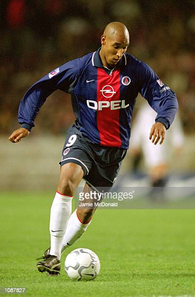 Nicolas Anelka of Paris St Germain on the ball during the Championnat de France match against Bordeaux at the Parc des Princes in Paris Mandatory...