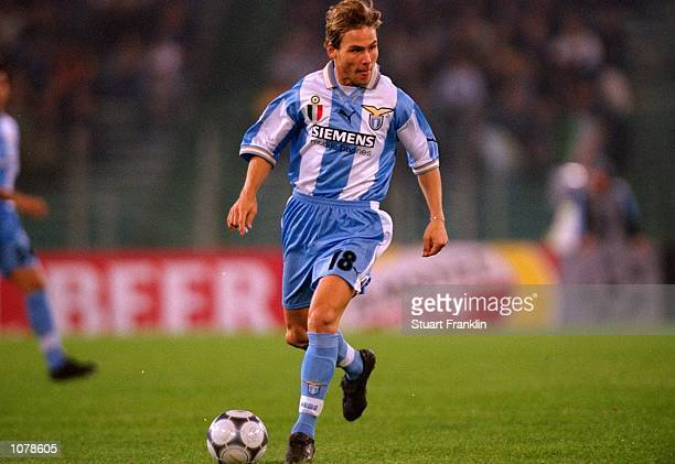 Pavel Nedved of Lazio in action during the UEFA Champions League match against Shaktar Donetsk played at the Stadio Olimpico in Rome Italy Lazio won...