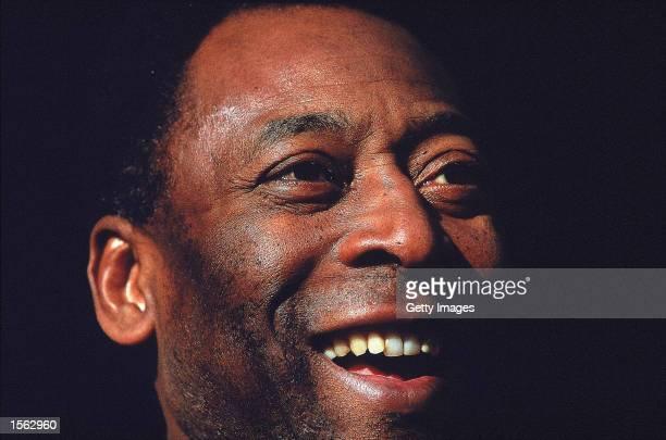 Portrait of Pele during an AXA photoshoot held at Wembley Stadium in London Mandatory Credit Allsport UK /Allsport