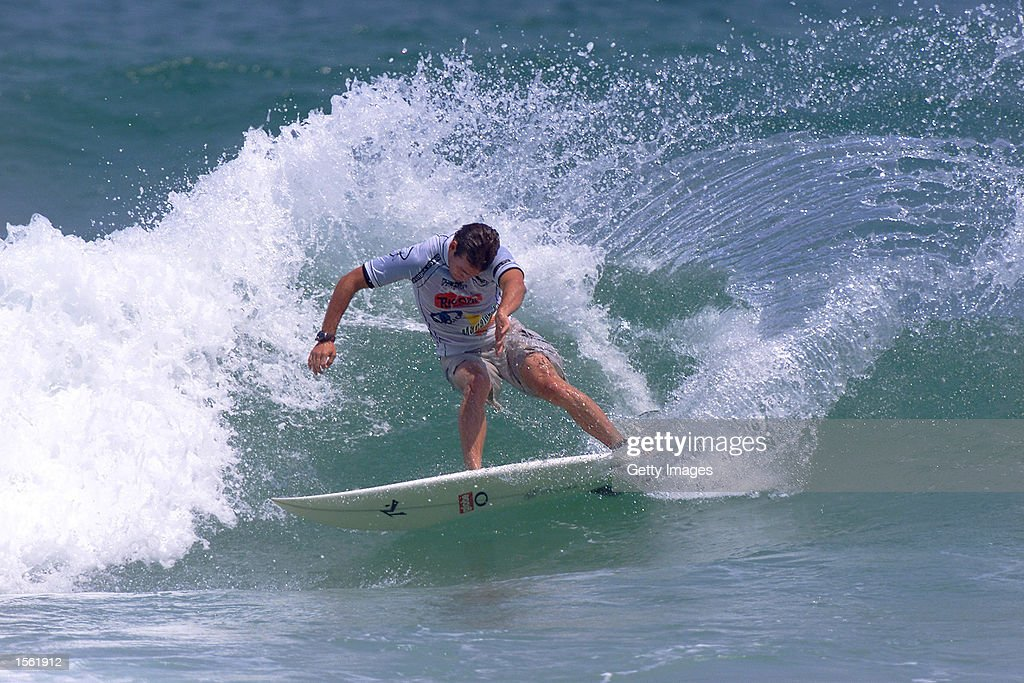 Rio Surf International Barra Da Tajuca Brazil Damien Hobgood sidelined Guilherme Herdy and Shawn Sutton in round one of the Rio Surf International in...