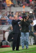 Vitesse Arnhem coach Ronald Koeman during the UEFA Cup second round first leg match against Inter Milan played at the San Siro in Milan Italy The...