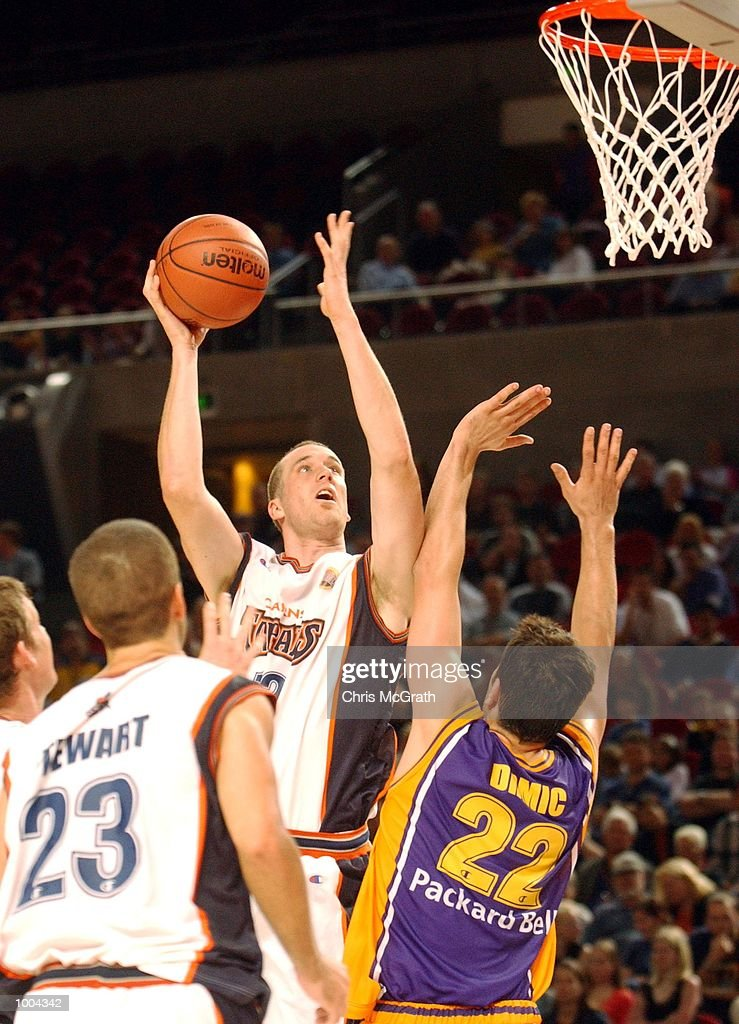 Aaron Trahair #13 of the Taipans in action during the NBL match between the Sydney Kings and the Cairns Taipans held at the Sydney Superdome, Sydney, Australia. DIGITAL IMAGE Mandatory Credit: Chris McGrath/ALLSPORT