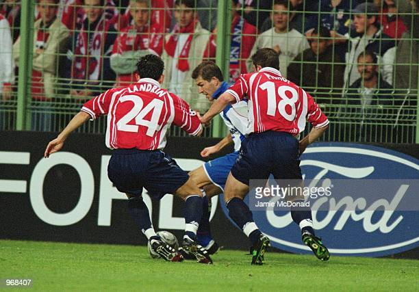 Action from the Fordprism sponsored UEFA Champions League match between Lille and Deportivo La Coruna played at the GrimonprezJooris Stadium in Lille...