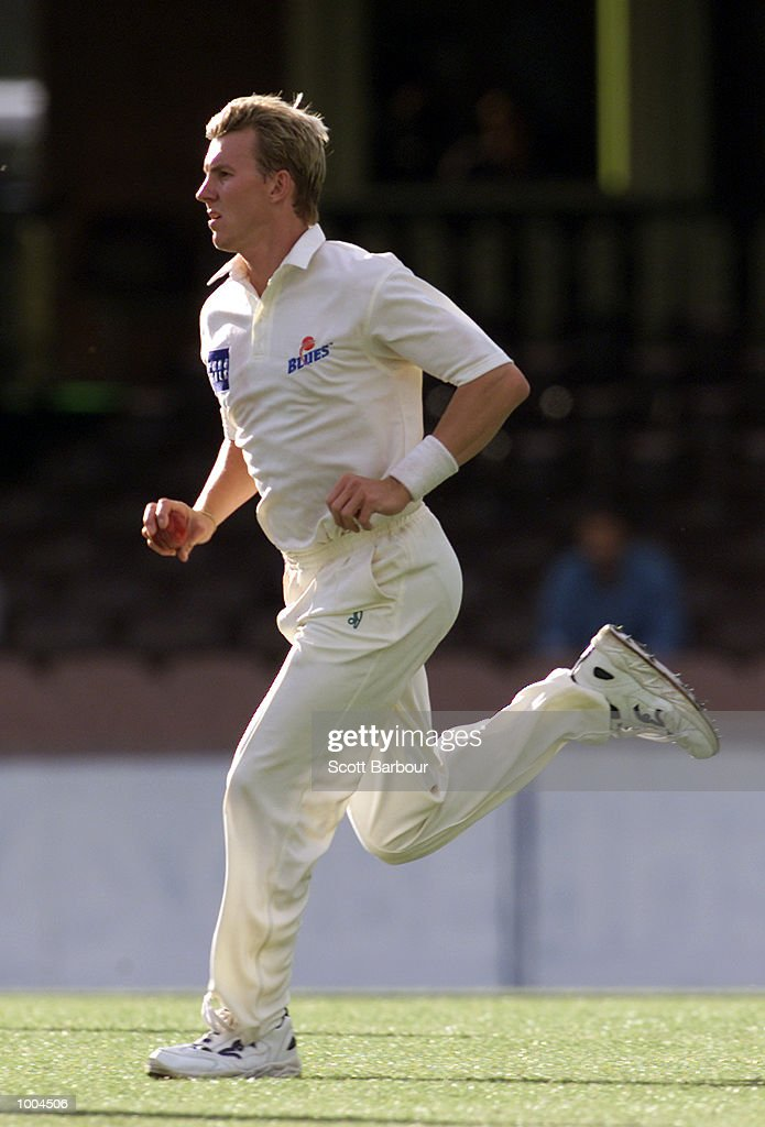 Brett Lee bowls during day one of the Pura Cup match between New South Wales and South Australia held at the Sydney Cricket Ground in Sydney, Australia. DIGITAL IMAGE. Mandatory Credit: Scott Barbour/ALLSPORT