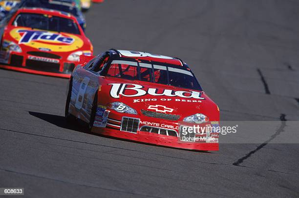 Driver Dale Earnhardt Jr #8 is driving on the track during the Checker Auto Parts 500 part of the NASCAR Winston Cup Championship Series at Phoenix...