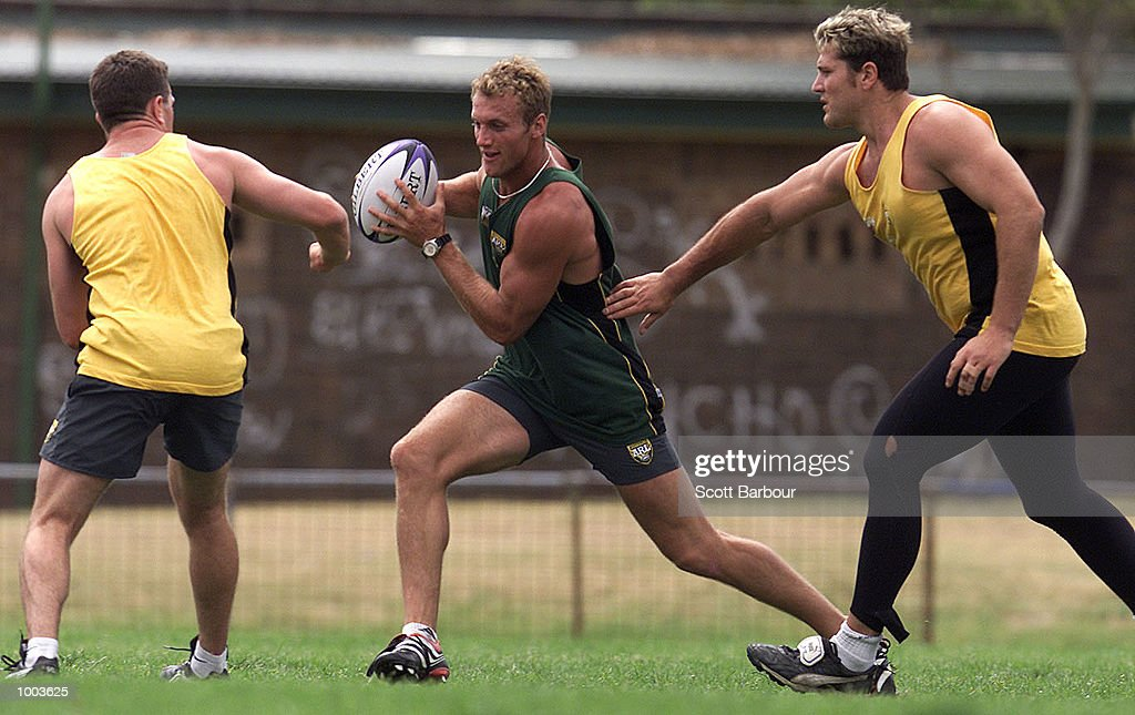 Mark Gasnier in action during the Australian Kangaroos team training session held at Erskineville Park in Sydney, Australia. DIGITAL IMAGE. Mandatory Credit: Scott Barbour/ALLSPORT