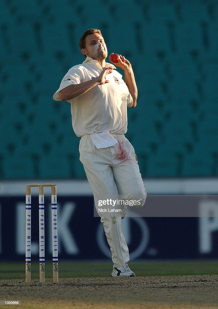 Mark Harity of South Australia in action during day two of the Pura Milk Cup match between the New South Wales Blues and the South Australia Redbacks held at the Sydney Cricket Ground, Sydney, Australia. DIGITAL IMAGE Mandatory Credit: Nick Laham/ALLSPORT