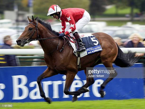 Mick Kinane and Rock Of Gibraltar score an easy sucsess to land The Grand Criterium Lucien Barriere run at Longchamp Paris France DIGITAL IMAGE...