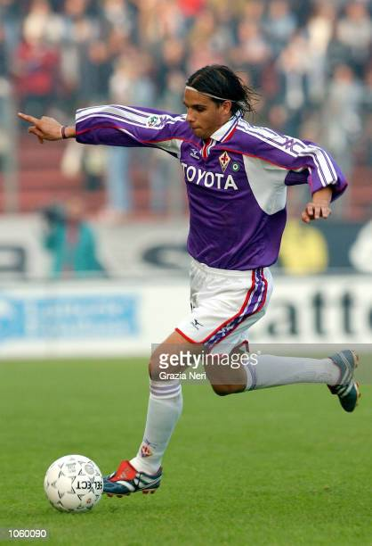 Pereira Ribeiro Nuno Gomes of Fiorentina in action during the Serie A 9th Round League match between Udinese and Fiorentina played at the Friuli...