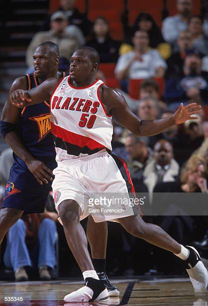 Portland Trailblazers forward Zach Randolph battles for position on the floor during the preseason game against the Golden State Warriors at the Rose...