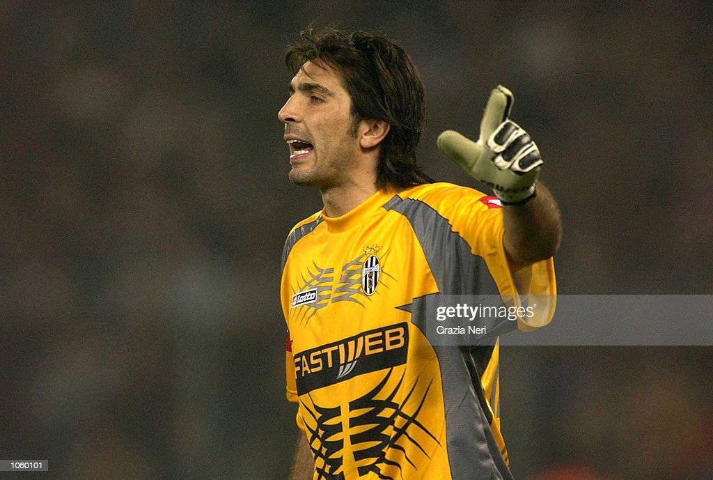 Portrait of Gianluigi Buffon goalkeeper of Juventus taken while in action during the Serie A 9th Round League match between Juventus and Inter Milan, played at the Delle Alpi stadium, Turin Italy. DIGITAL IMAGE. Mandatory Credit: Grazia Neri/ALLSPORT