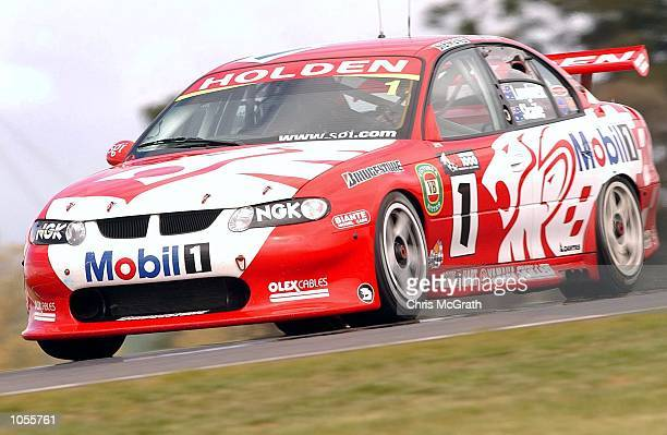 The Holden Racing team of Mark Skaife and Tony Longhurst in action during the Bathurst 1000 V8 Supercar race held at Mt Panormama Bathurst Australia...