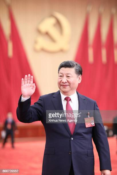 BEIJING Oct 25 2017 Xi Jinping general secretary of the Communist Party of China Central Committee who is also Chinese president and chairman of the...