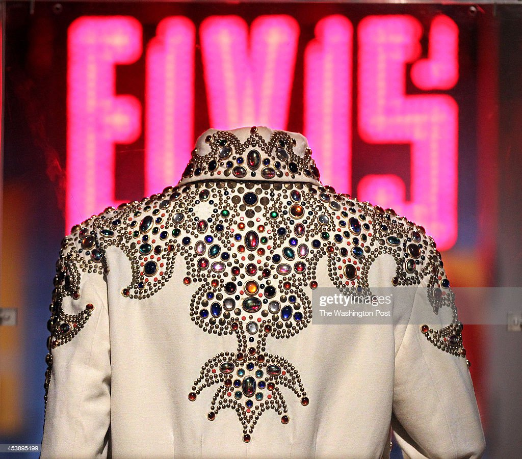 This is the King of Spades Jumpsuit that Elvis wore in concert in 1974 on display at the Rock and Roll Hall of Fame and Museum in Cleveland Ohio This...