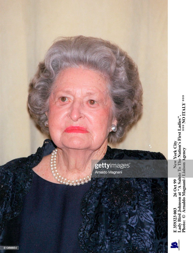 Oct 99 New York City Lady Bird Johnson At 'A Salute To The Nation's First Ladies'.