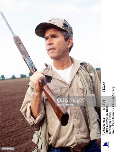 Oct94 Texas Retro George W Bush Hunting In Texas