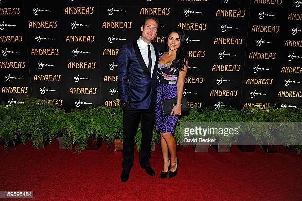 Octagon Girl and model Arianny Celeste and Steve Weniger arrive for the grand opening celebration at Andrea's at the Wynn Las Vegas on January 16...