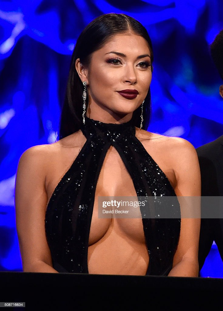 Octagon Girl <a gi-track='captionPersonalityLinkClicked' href=/galleries/search?phrase=Arianny+Celeste&family=editorial&specificpeople=4900711 ng-click='$event.stopPropagation()'>Arianny Celeste</a> appears on stage during the eighth annual Fighters Only World Mixed Martial Arts Awards at The Venetian Las Vegas on February 5, 2016 in Las Vegas, Nevada.