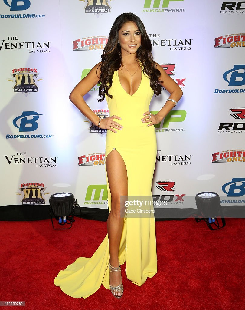 Octagon Girl <a gi-track='captionPersonalityLinkClicked' href=/galleries/search?phrase=Arianny+Celeste&family=editorial&specificpeople=4900711 ng-click='$event.stopPropagation()'>Arianny Celeste</a> arrives at the seventh annual Fighters Only World Mixed Martial Arts Awards at The Palazzo Las Vegas on January 30, 2015 in Las Vegas, Nevada.