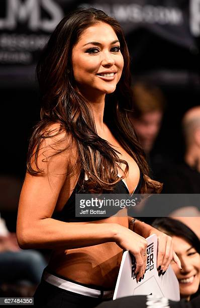 Octagon Girl Arianny Celeste looks on during The Ultimate Fighter Finale event inside the Pearl concert theater at the Palms Resort Casino on...