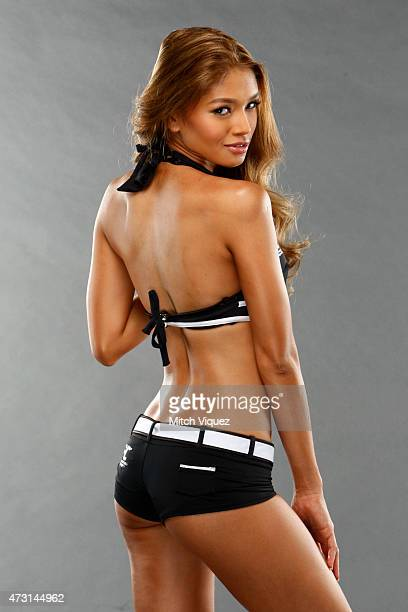 Octagon Girl Red Dela Cruz poses for a portrait during a UFC photo session at the Solaire Resort and Casino on May 13 2015 in Pasay Metro Manila...