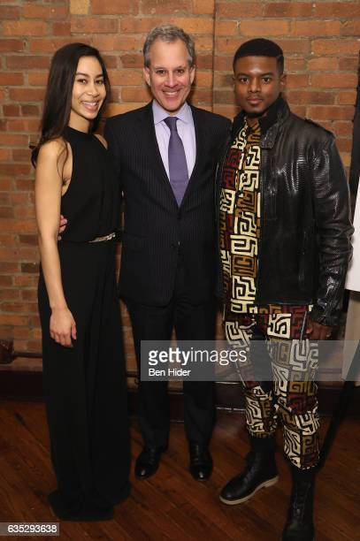 Octavia ChavezRichmond New York Attorney General Eric Schneiderman and Actor Jamal MalloryMcCree attend the Special Screening Of FilmRise's 'From...