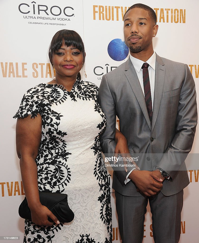 Octavia Spencer and Michael B Jordan attend the 'Fruitvale Station' screening at the Museum of Modern Art on July 8 2013 in New York City