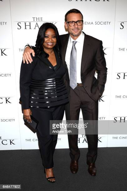 Octavia Spencer and Tim McGraw attend the world premiere of 'The Shack' hosted by Lionsgate at Museum of Modern Art on February 28 2017 in New York...