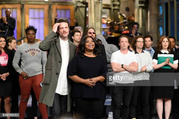 LIVE 'Octavia Spencer' Episode 1719 Pictured Musical guest Father John Misty and host Octavia Spencer during Goodnights on March 4 2017