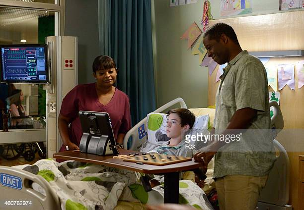 Octavia Spencer Griffin Gluck and Victor King in the 'What I Did For Love' episode of RED BAND SOCIETY airing Wednesday Dec 3 2014 on FOX