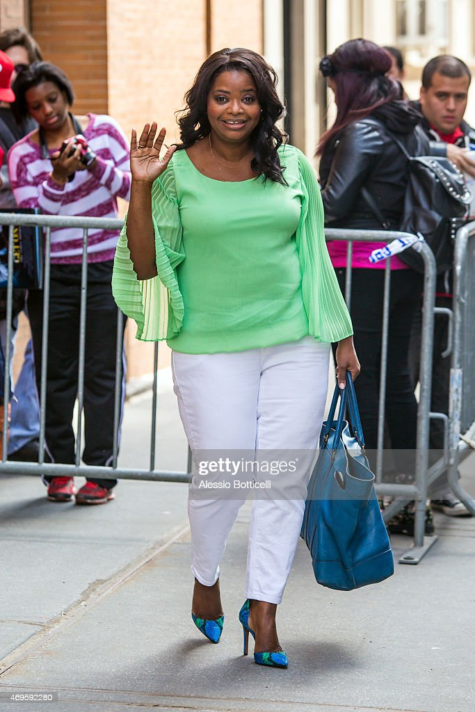 Octavia Spencer is seen exiting 'The View' on April 13 2015 in New York City