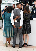 Octavia Spencer Michael B Jordan and Melonie Diaz attend the photocall for 'Fruitvale Station' during the 66th Annual Cannes Film Festival at Palais...
