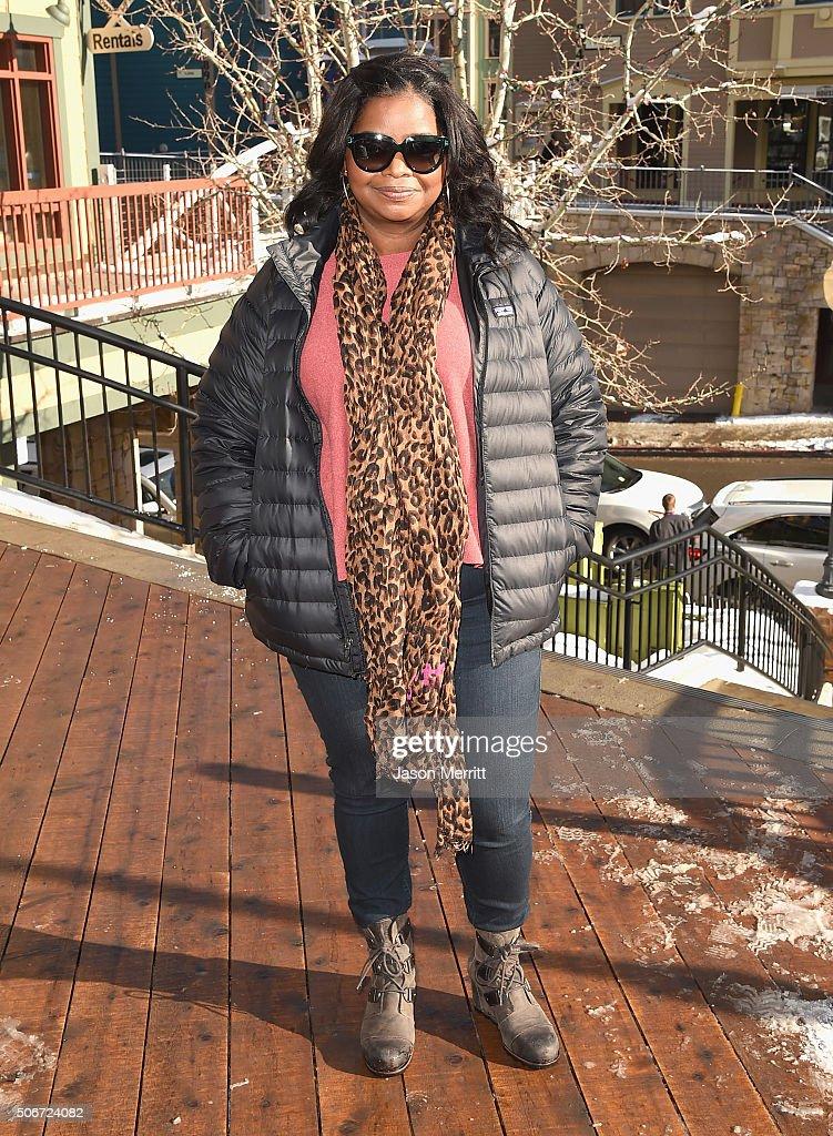 Octavia Spencer wearing Sorel around Park City on January 25, 2016 in Park City, Utah.