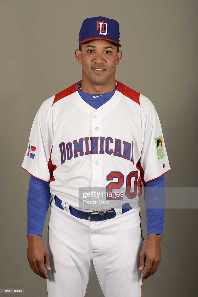 Octavio Dotel #20 of Team Dominican Republic poses for a headshot for the 2013 World Baseball Classic on March 4, 2013 at George M. Steinbrenner Field in Tampa, Florida.