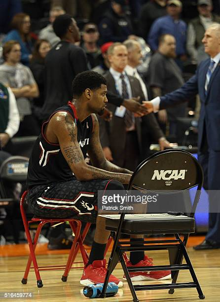 Octavius Ellis of the Cincinnati Bearcats looks on after their 7678 loss to the Saint Joseph's Hawks during the first round of the 2016 NCAA Men's...