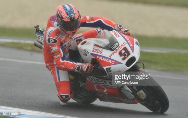 Octo Pramac Racing team rider Danilo Petrucci of Italy rides in the third practice session of the Australian MotoGP Grand Prix at Phillip Island on...