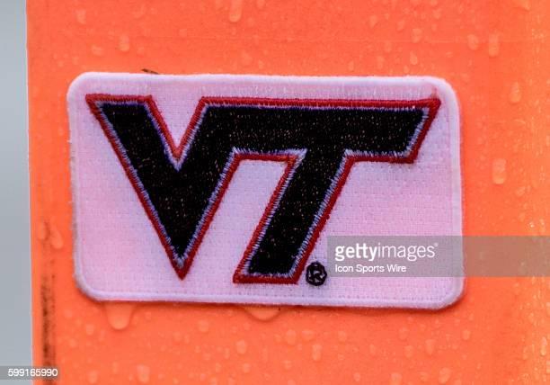 Virginia Tech Hokies logo at Lane Stadium in Blacksburg VA