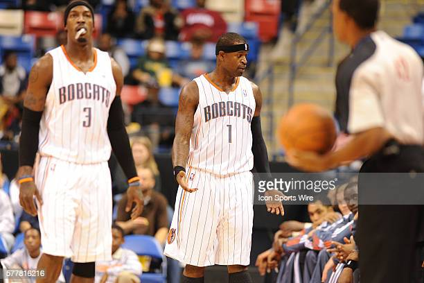 Charlotte shooting guard Stephen Jackson looks towards the Charlotte bench during a game between the Oklahoma City Thunder and the Charlotte Bobcats...